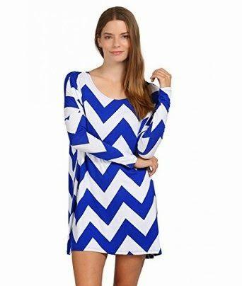 shift dress: Blue Shift Dress