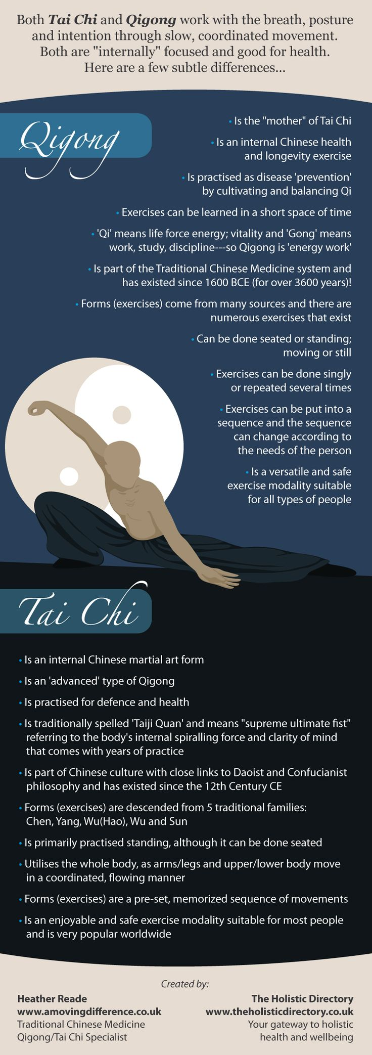 #Qigong or #Tai Chi… What's The Difference? By the #Holistic Directory Learn more @ drmalikov.com