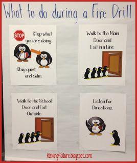 Risking Failure: Fire Drill Procedural Posters