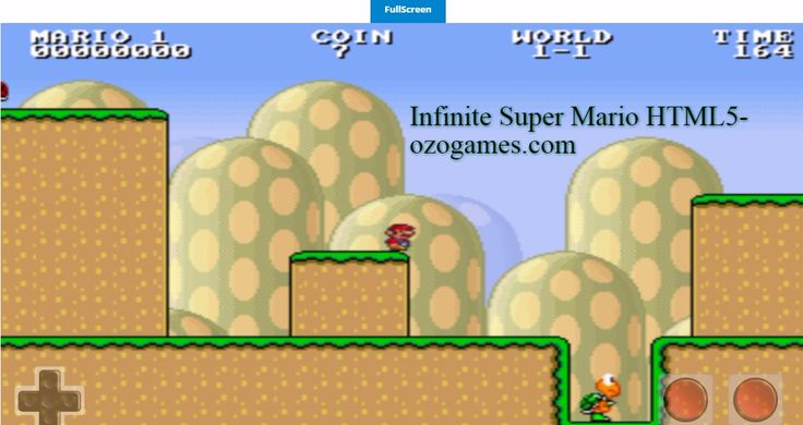 Nice version you can play on PC or tab or phone. Infinite Super Mario Bros - Unblocked Online