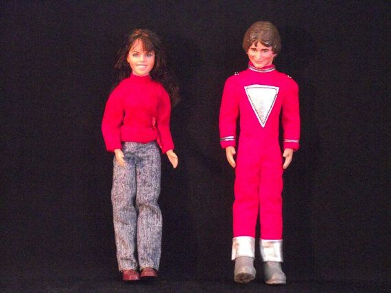 Vintage Mork and Mindy Dolls  Mork and Mindy by kickinitoldskool, $35.00