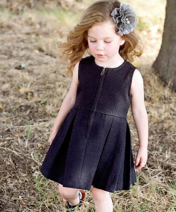 Look at this Black Corduroy Jumper Dress - Toddler