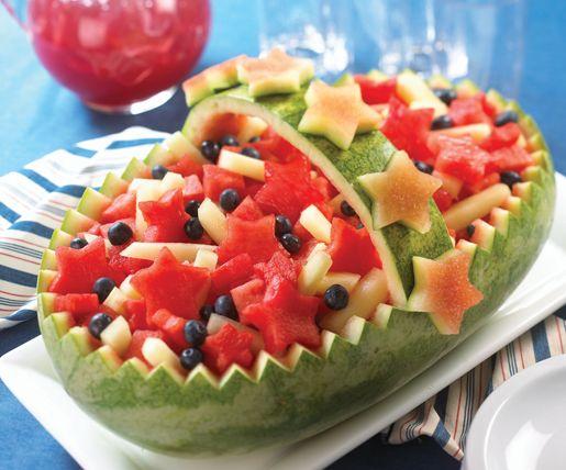 How to Make a Melon Kebob Basket #stepbystep