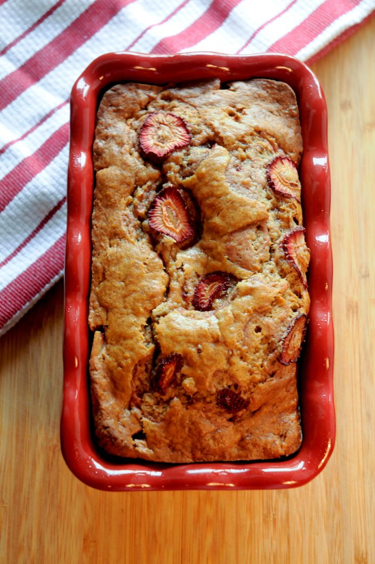 brown butter banana strawberry bread
