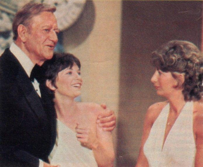 John Wayne, Cindy Williams and Penny Marshall
