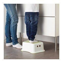 IKEA - FÖRSIKTIG, Children's stool, , Anti-slip cover on top reduces the risk of slipping.Anti-slip material on the underside…