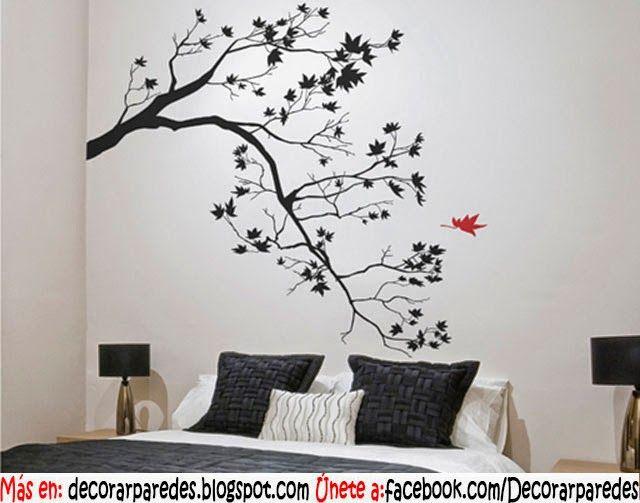 Las 25 mejores ideas sobre plantillas de pared rbol en - Decorar pared fotos ...