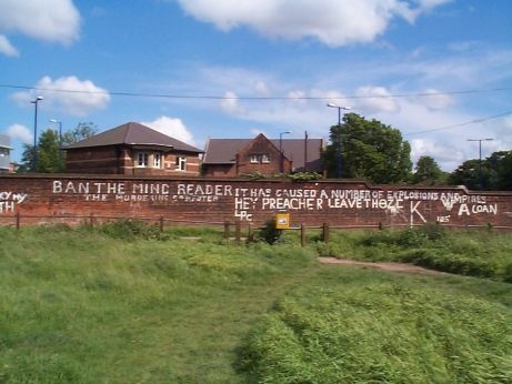 Ban The Mindreader Famous Piece Of Graffiti In Gillingham Kent Now Sadly
