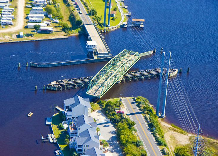 Surf City NC Swing Bridge (Air View)... You KNOW you're there when you hit the swing bridge!!