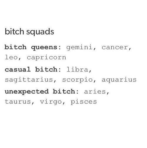 12 Zodiac Signs Bitch Squads: Queens~Cancer Zodiac Sign♋