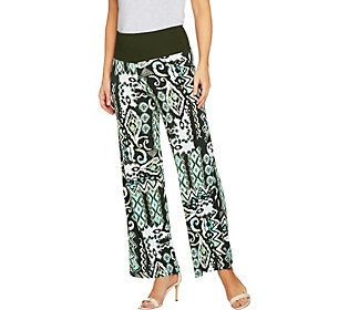Women with Control Regular Tummy Control Printed Palazzo Pants