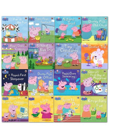 Peppa Pig has become much more than a TV star and has found a permanent place in the hearts of toddlers everywhere This 16-book collection contains
