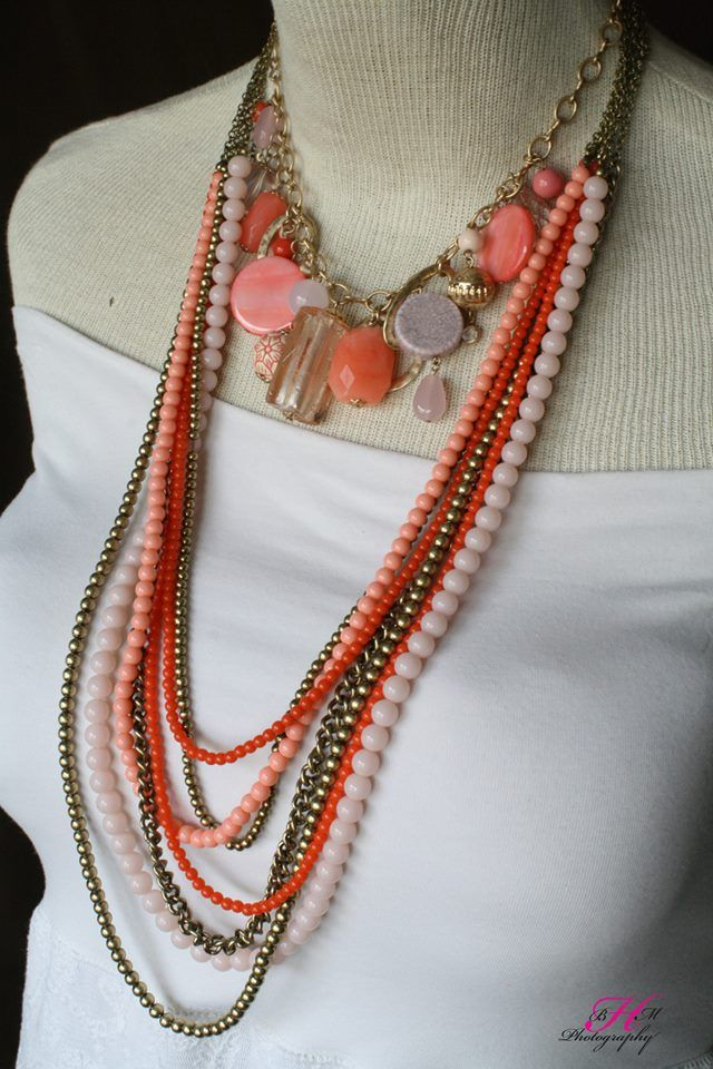 Papaya and Dreamsicle necklaces look fantastic together! #pdcombo