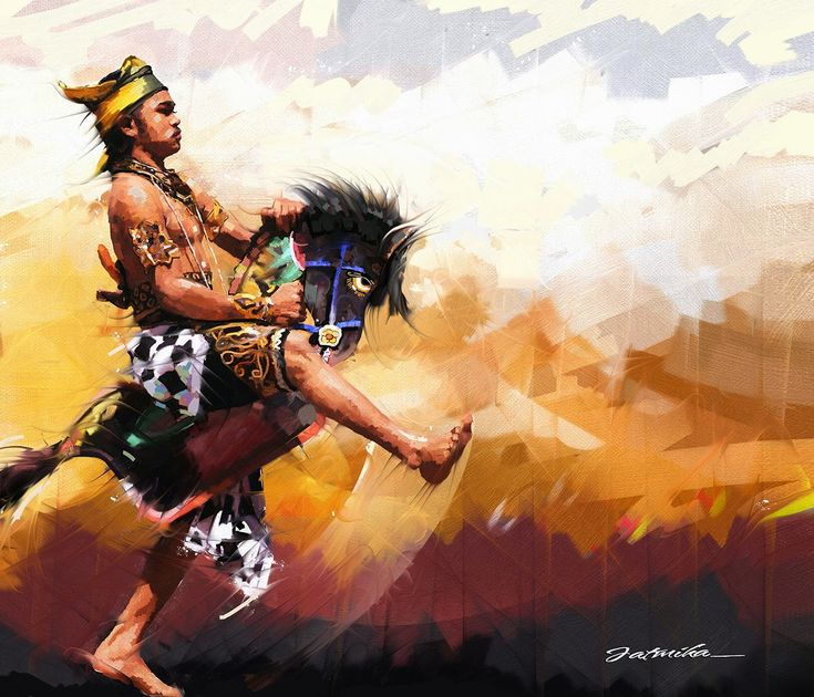 jatmika sketch & drawing: Kuda Lumping, Digital Painting