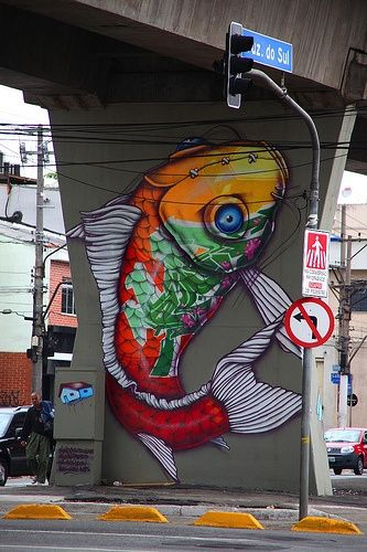 Binho Ribeiro - cool koy fish and wonderful graffiti | http://graffiti-artworks.blogspot.com
