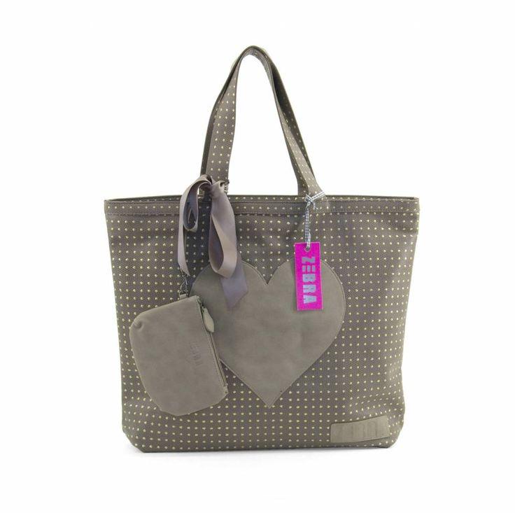 Zebra Trends Natural Bag - Suedine - Studs/Beige