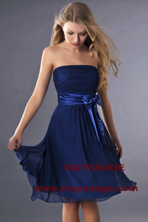 Robe bleu électrique,robe de cocktail,maysange