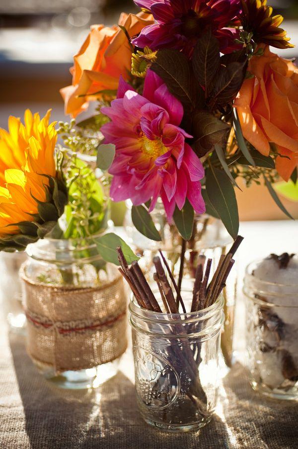 Country Wedding Flowers: Ideas, Country Weddings, Wedding Photo, Rustic Weddings, Mason Jars Centerpieces, Rustic Wedding Chic, Country Wedding Flowers, Southern Country Wedding, Tables Flowers