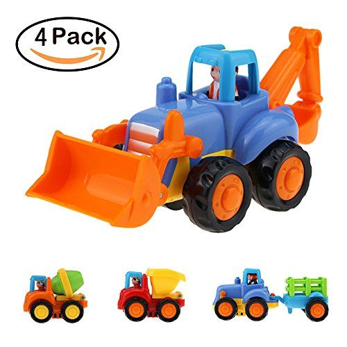 Toddler Baby Toy Push and Go Friction Powered Car Inertia Toy Car Vehicles Toys Tractor Bulldozer Dumper Cement Mixer Truck for Children Boys Girls Kids Gift,set of 4. For price & product info go to: https://all4babies.co.business/toddler-baby-toy-push-and-go-friction-powered-car-inertia-toy-car-vehicles-toys-tractor-bulldozer-dumper-cement-mixer-truck-for-children-boys-girls-kids-giftset-of-4/