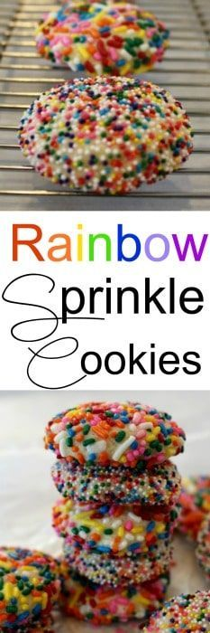 Rainbow Sprinkle Cookies - the perfect special treat for a birthday, Valentine's Day or the best for a Christmas Cookie swap!