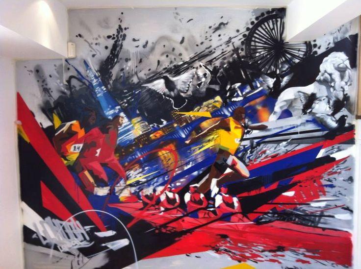 Client Crewroom Offices Graffiti Design Office Store Interiors Interiordesign