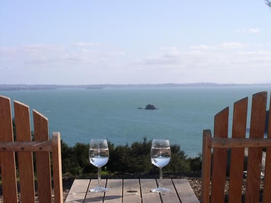 View from front deck -  the Pad Koi Roc Waiheke Is