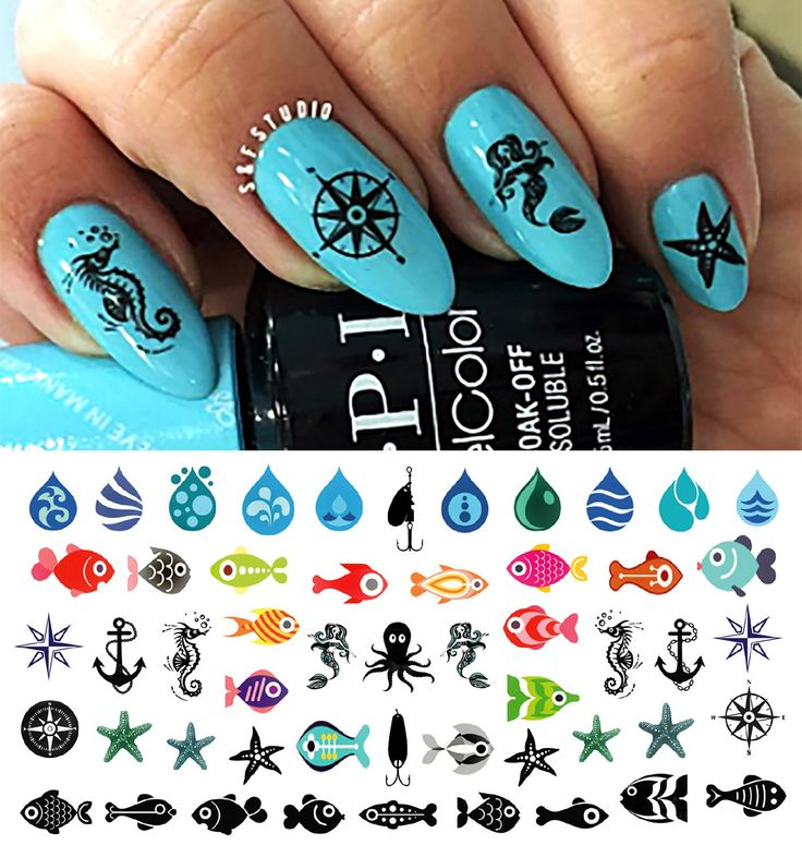 10 best Spring Break Nail Art images on Pinterest | Nail decals ...
