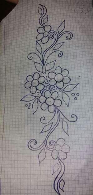 Me Encantan Estas Flores Tallado Cristal Pinterest Embroidery