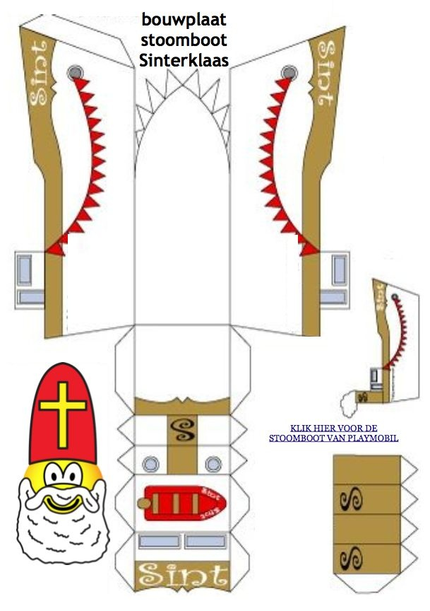 #Bouwplaat van de #stoomboot van #Sinterklaas