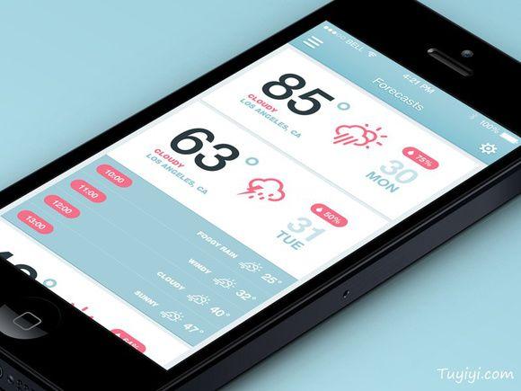 iOS7 Weather App (Ho...