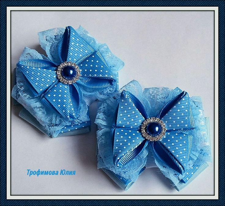Купить Бантики для девочек - Бантики из лент, бантики для девочек, резинки для волос, репсовая лента