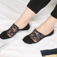 Women Summer Glass Silk Art Socks Harajuku Style Crystal Sock online - NewChic Mobile.