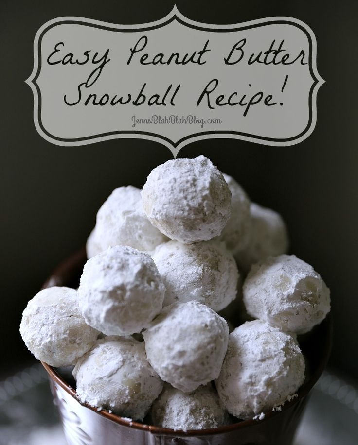 Quick & Easy No Bake Peanut Butter Snowballs Recipe AD #JBBB this is a fun Christmas recipe or just because you can change the powder sugar to chocolate and eat them all year.