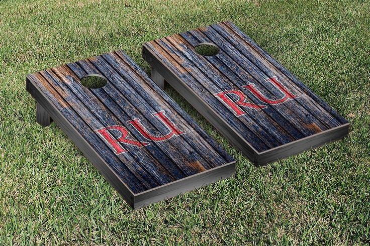 Radford Highlanders Weathered Wood w/ Logo Cornhole Board & Bag Set