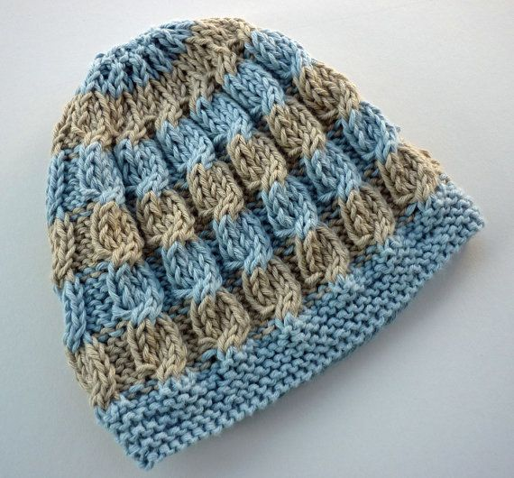 Baby Hat Knitting Pattern with cable design  HARPER Instant Download