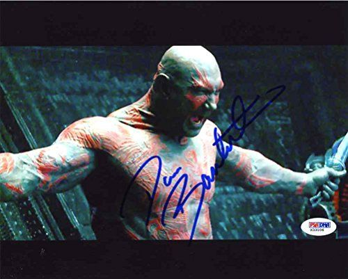 Dave Bautista Guardians of the Galaxy Signed 8x10 Photo Certified Authentic PSA/DNA @ niftywarehouse.com