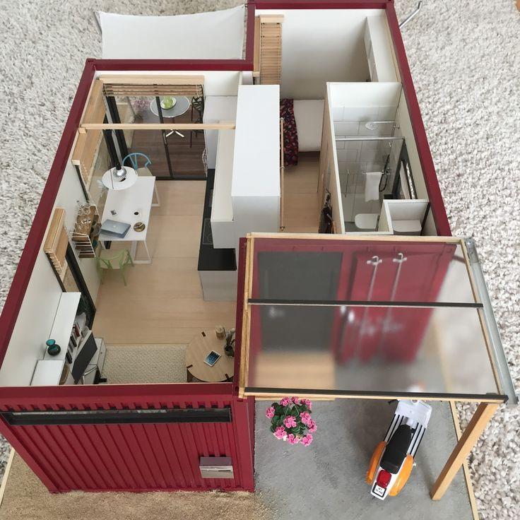 Moderne Modellhäuser im Maßstab 1:12: Versandhau…