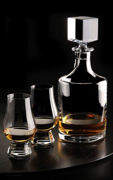 Cashs Crystal Grand Cru Whiskey Tasting Set, Decanter, Pair of Tasting Glasses