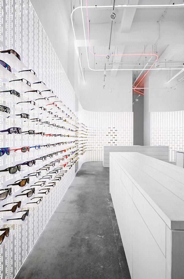 EYEWEAR STORES! Mykita eyewear shop, New York City store design