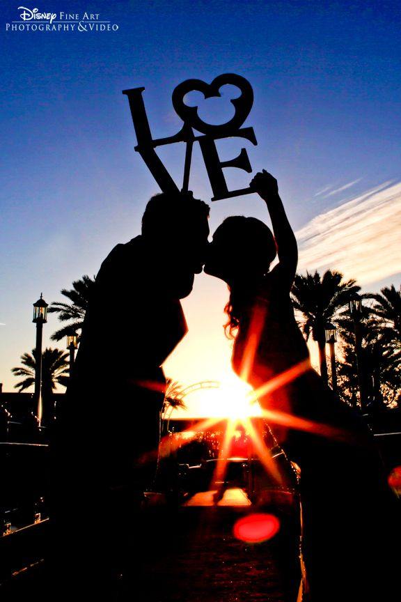 Disney Fine Art Photography helped capture a love that shines like the sun #Disney #wedding #photography #love #sunlight
