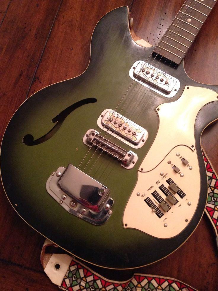 Vintage VHTF Green Harmony Rebel H 82g Hollowbody Electric Guitar