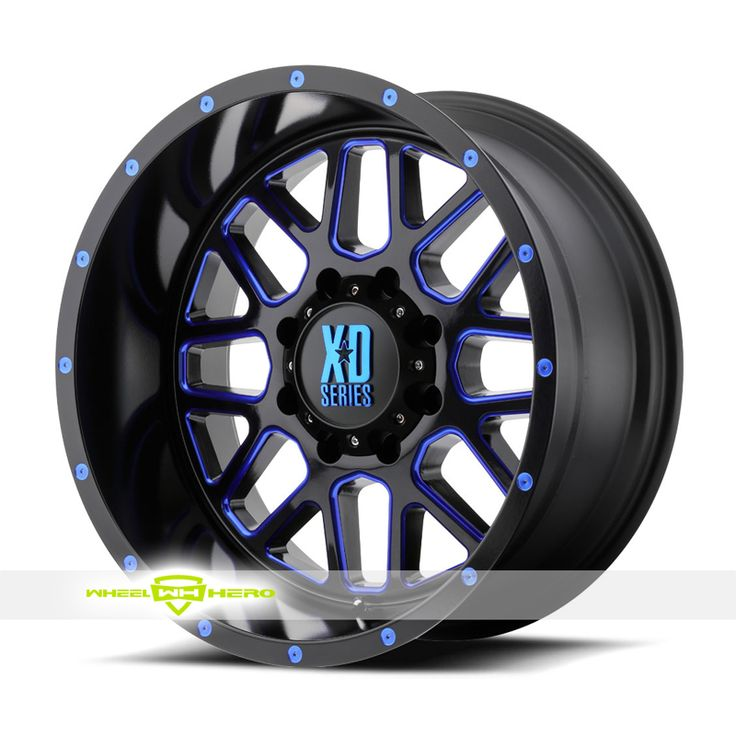 XD Series XD820 Grenade Black Milled Blue Wheels For Sale & XD Series XD820 Grenade Rims And Tires