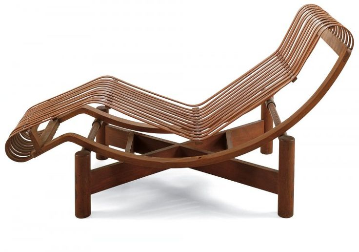 Chaise longue en bambou charlotte perriand 1903 1999 for Chaise longue jardin bambou