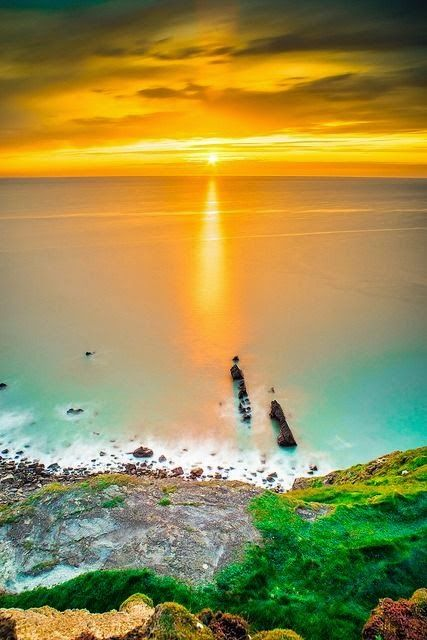 Sunset in Bude, Cornwall, United Kingdom. // For premium canvas prints & posters check us out at www.palaceprints.com