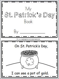 "Free St. Patrick's Day Mini Book for Kindergarten or preschool. Practice reading the high frequency word ""can see"" in this book. There are 9 pages in this mini book. You can print and use all the pages or just the ones that you prefer to use. The final page is blank to allow students to …"