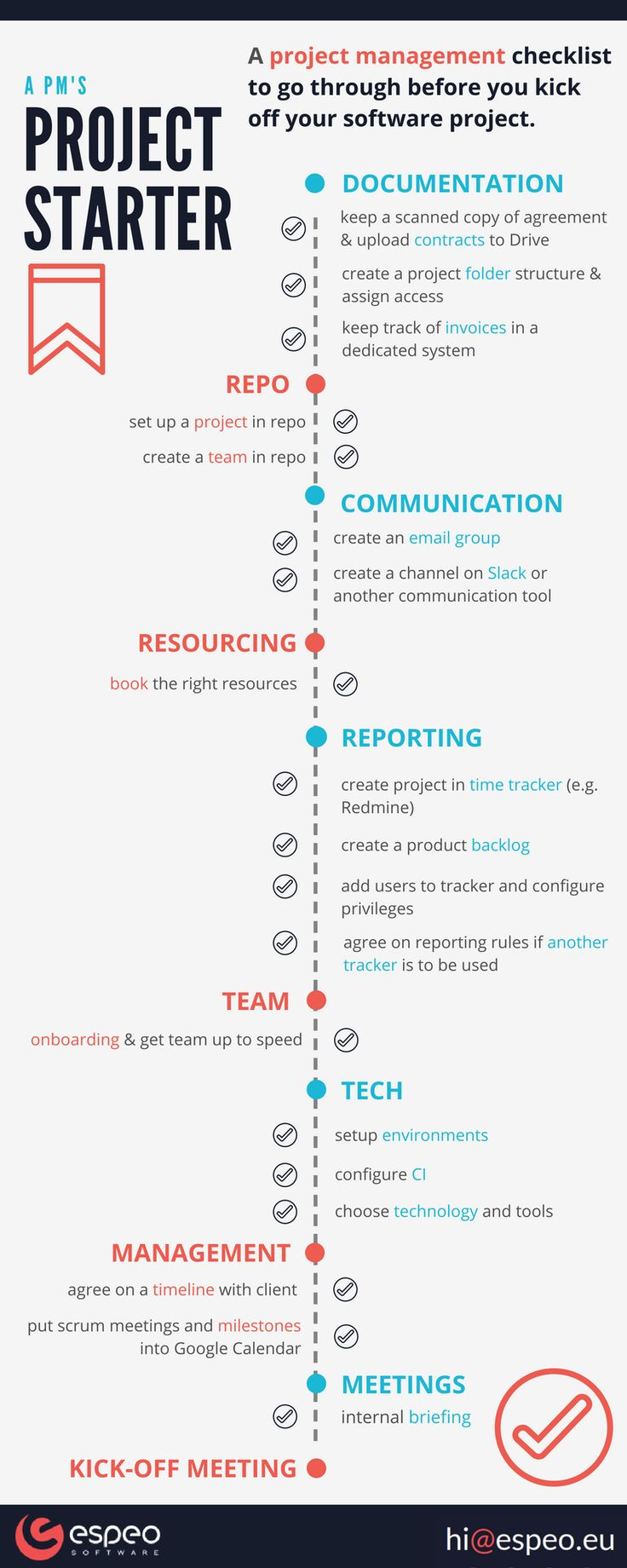 How to start off a #software project - our #business and #tech #checklist!