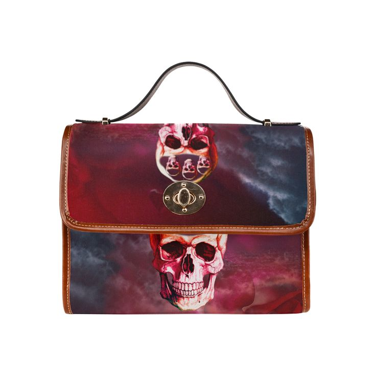 Funny Skull Waterproof Canvas Bag/All Over Print (Model 1641)
