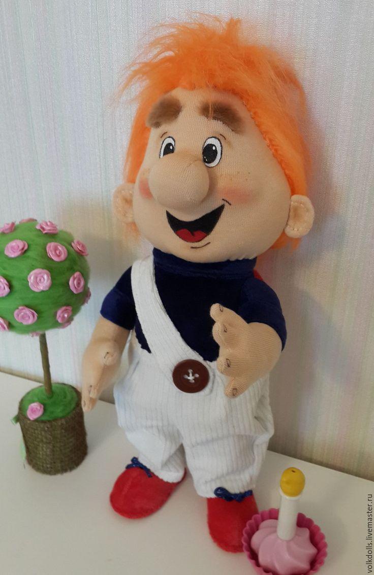 Купить Карлсон - рыжий, карлсон, мультяшки, мультяшный герой, игрушка ручной работы, игрушка для детей