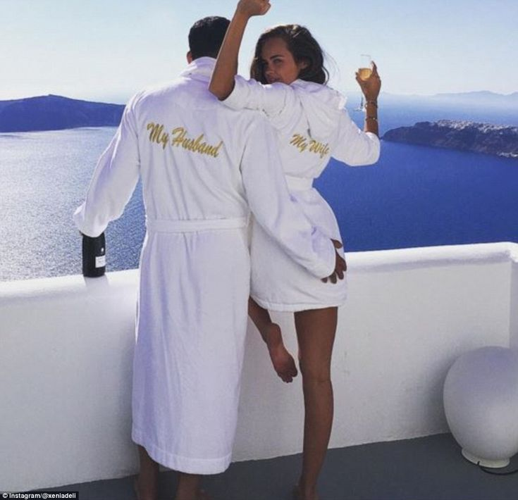 SEXY MODEL XENIA DELI 26, WITH NEW HUBBY AGE 62, EGYPTIAN BUSINESSMAN-   HE MUST HAVE MANY MILLIONS.... THE WEDDING IN SANTORINI GREECE COST REPORTEDLY OVER 1 MILLION EUROS.... XENIA APPEARS VERY HAPPY...