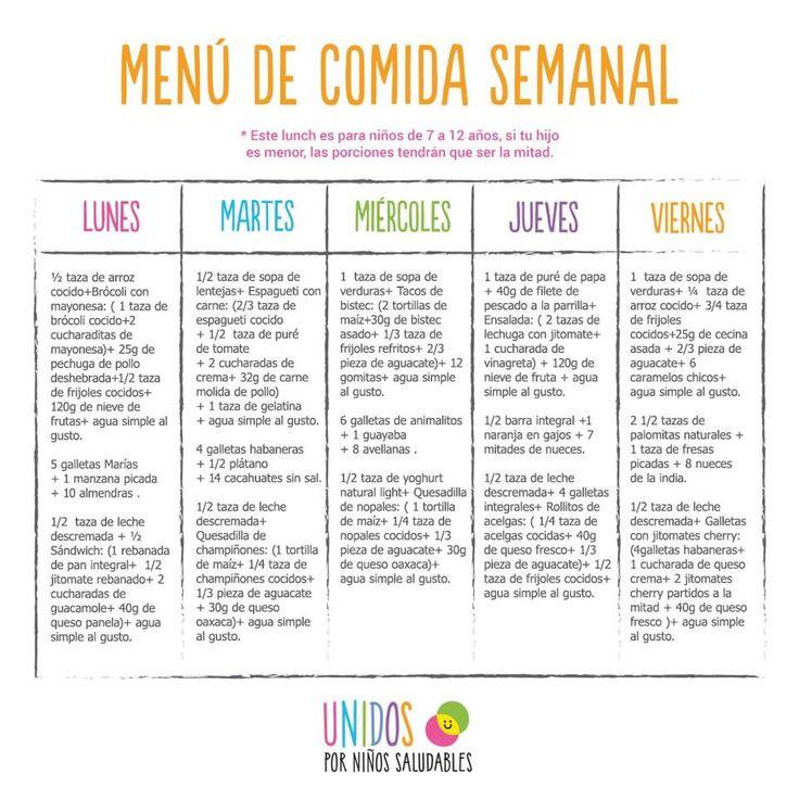 Plan refrigerio saludable comida saludable para beb s y for Plan semanal de comidas